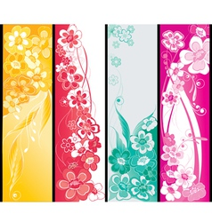 summer flowers banners vector image vector image