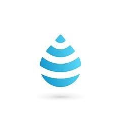 Water drop symbol logo design template icon May be vector image vector image