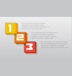 blocks infographics element number text template vector image