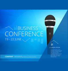 conference template vector image vector image