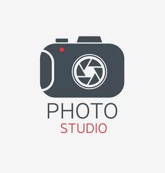 photo camera logo photo studio concept vector image
