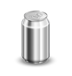 033 liter glossy aluminum can soda or beer vector image