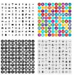 100 home icons set variant vector