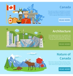 1608i124015Sm004c11canada flat banners vector image vector image