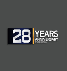 28 years anniversary logotype with blue vector