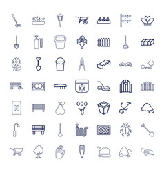 49 garden icons vector