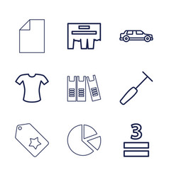9 blank icons vector
