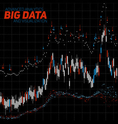 abstract financial big data graph vector image