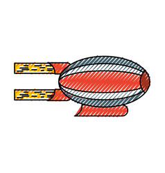 Airship blimp cartoon vector