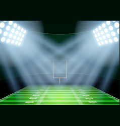 Background for posters night american football vector image