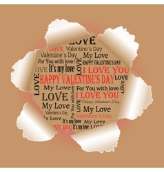 background to the day of lovers vector image