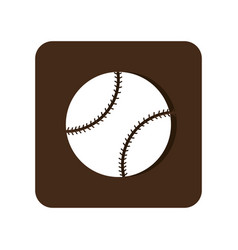 Baseball sport equipment emblem icon vector