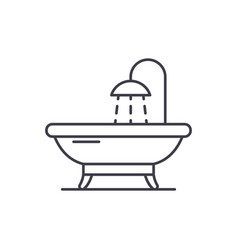 bathroom line icon concept bathroom linear vector image
