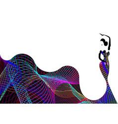 beautiful young woman hispanic flamenco dancer vector image