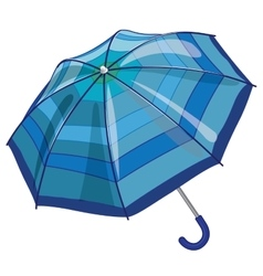 Big blue sun parasol umbrella against rain vector