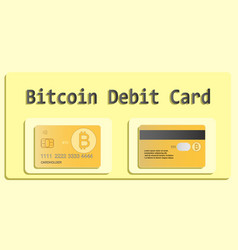 bitcoin debit card eps 10 vector image