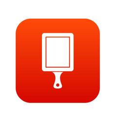 Black cutting board icon digital red vector