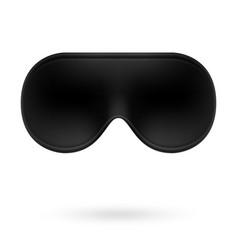 black eye sleep mask vector image