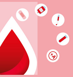 blood donation day vector image