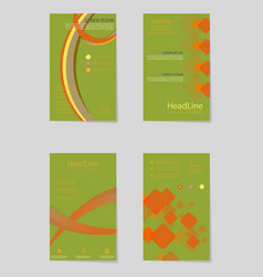 brochure design brochure template creative vector image