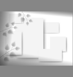 business mockups for branding composition vector image