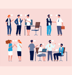 business situation dialog between persons sitting vector image