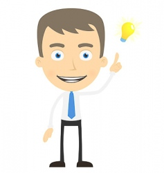 cartoon manager icon vector image