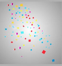 Colorful confetti festive falling shiny vector
