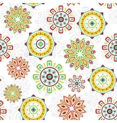 Colorful folk seamless pattern background vector