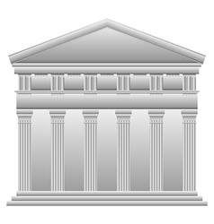 Doric Greek temple vector