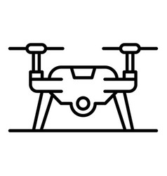 drone on ground icon outline style vector image