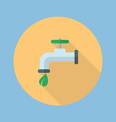 Eco water tap flat icon vector image