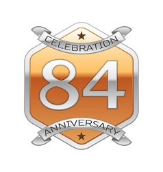Eighty four years anniversary celebration silver vector image