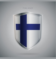 Europe flags series finland modern icon vector