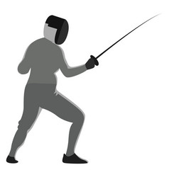 Fencing sport on white background vector
