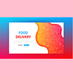 food delivery landing page vector image