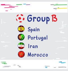 football cup russia group b vector image