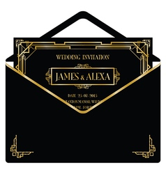 Great gatsby invitations vector images over 880 gatsby envelope vector stopboris Image collections