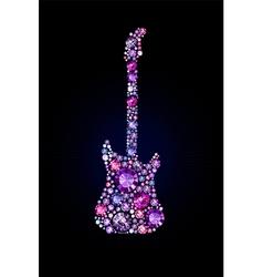 Gem Guitar vector image
