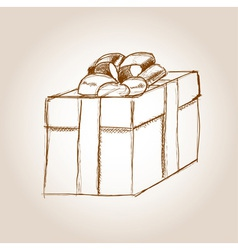 Gift drawing vector