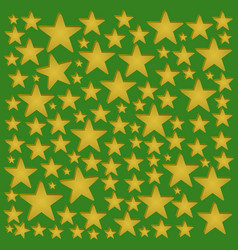 golden starchristmas year vector image