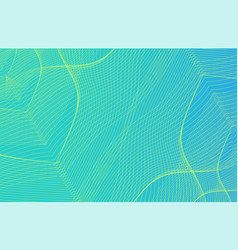 Guilloche background in blue and green vector