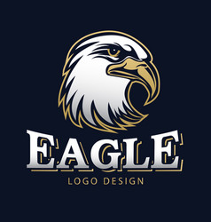 hawk eagle head usa americs logo mascot 15 vector image