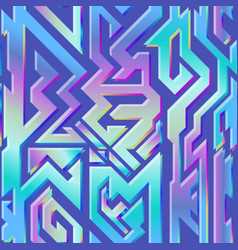 hologram geometric pattern vector image