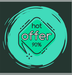Hot offer 90 percent off final sale isolate circle vector