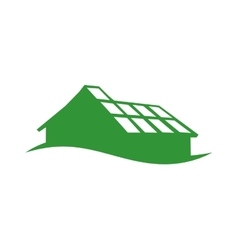 House silhouette icon eco and conservation design vector