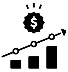 Increase sale solid vector