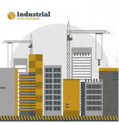 industrial construction background vector image