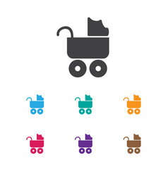 Infant symbol on carriage vector