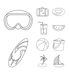 isolated object of equipment and swimming sign vector image